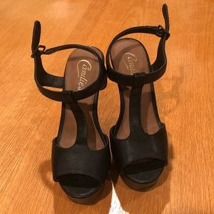 Candie's T-Strap Wedges